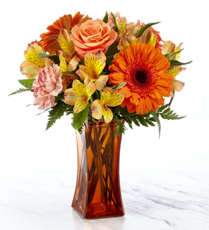 Amour Flowers The FTD® Orange Essence™ Bouquet- VASE INCLUDED Frederick, MD, 21704 FTD Florist Flower and Gift Delivery